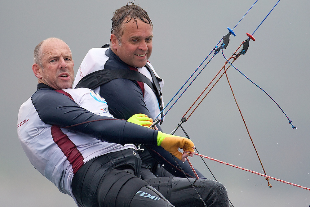 ENGLAND, Falmouth, Restronguet Sailing Club, 8th September 2009, International 14 Prince of Wales Cup Week, GBR1532 Adrian Williams and Spike