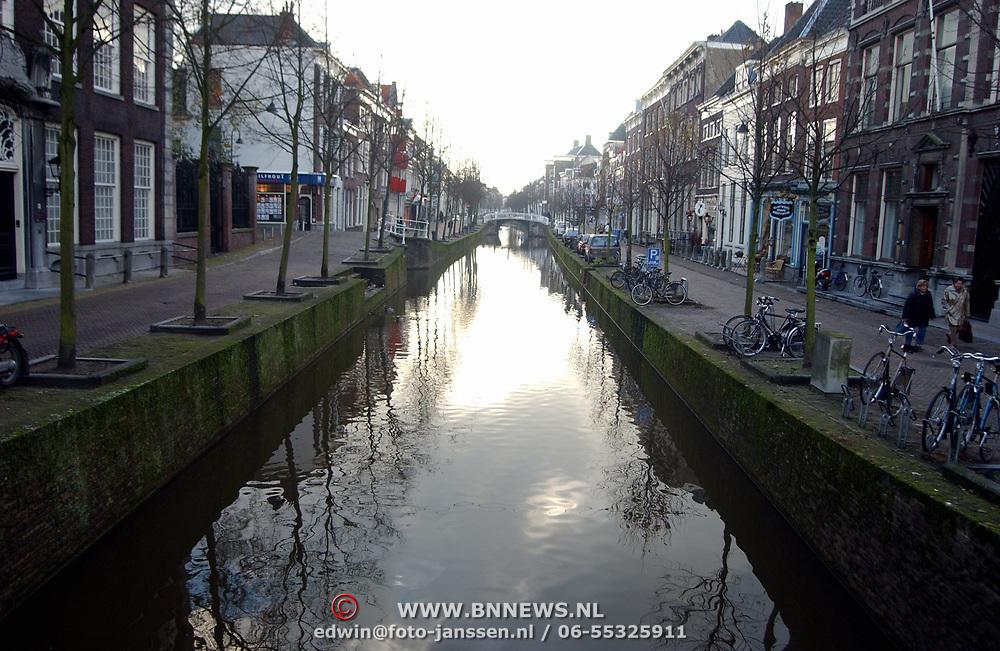 Gracht, brug Oude Delft Delft