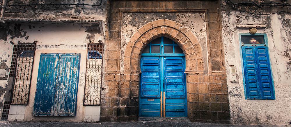 Blue Doors and Windows, Essaouira, Morocco