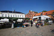 Ystad. Stortorget. Fresh strawberries.