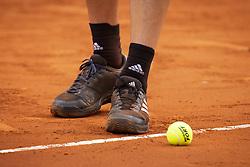 May 13, 2018 - Madrid, Spain - Austrian Dominic Thiem during Finals of Mutua Madrid Open at Caja Magica in Madrid, Spain. May 13, 2018. (Credit Image: © Coolmedia/NurPhoto via ZUMA Press)