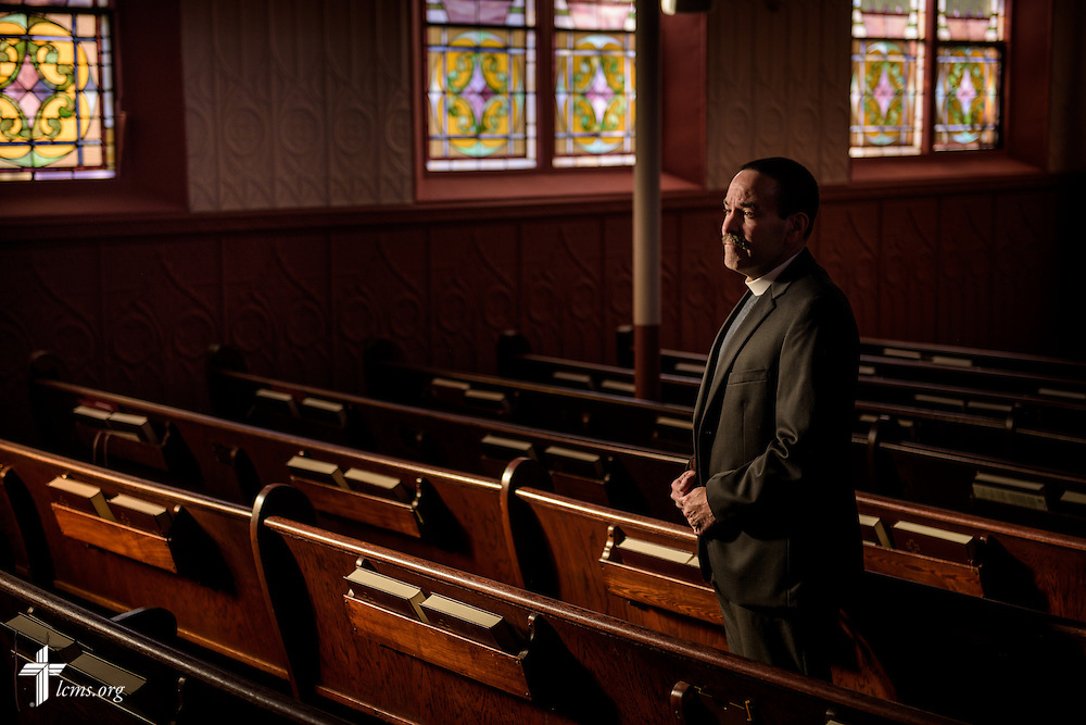 #Eyes of Life Portrait of the Rev. Kevin A. Karner, pastor of Immanuel Lutheran Church on Tuesday, Nov. 1, 2016, in Bristol, Conn. LCMS Communications/Erik M. Lunsford