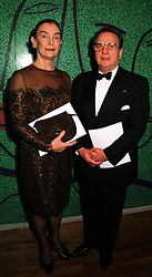 MR & MRS RONALD HARWOOD he is the playwright, at a concert in London on 30th November 1999.MZO 53