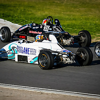 Red Bull Racing Formula 1 driver Daniel Ricciardo  driving a Formula  Ford (the white Fastlane Van Diemen RF90) at the 2005 Spices Catering Cup at Barbagallo Raceway, Wanneroo, Western Australia. This was Daniel's first race meeting in a Formula Ford.