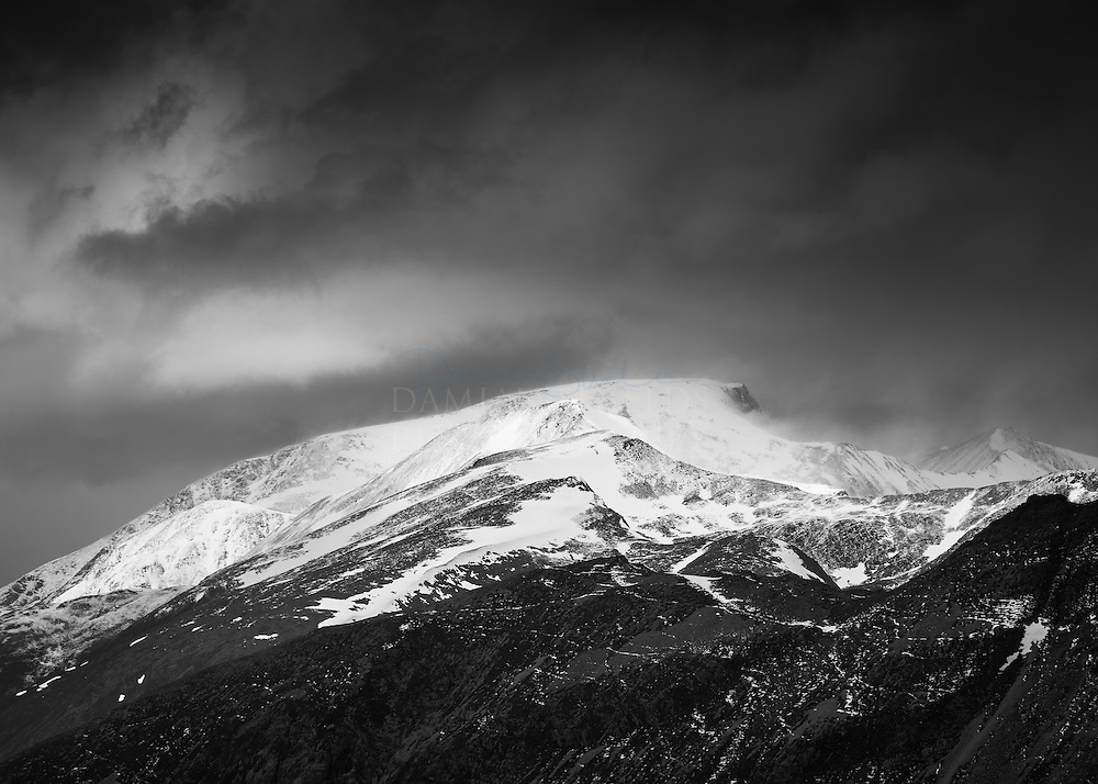 Ben Nevis and the Mamores from Meall Dearg, Glen Coe, Highlands, Scotland