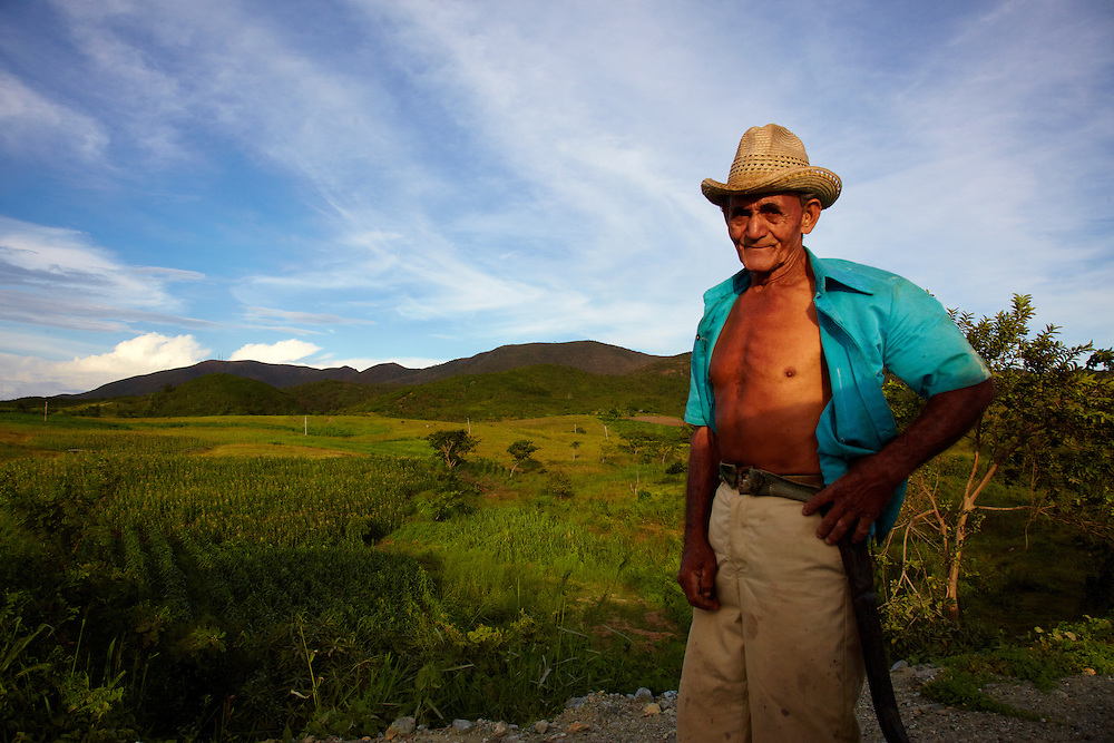 Farmer west of Moa, Holguin, Cuba.