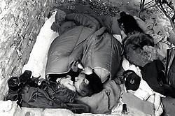 Homeless couple, Nottingham, UK 1990s