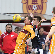 Dundee's Cammy Kerr shadows Motherwell's Elliott Frear - Motherwell v Dundee in the Ladbrokes Scottish Premiership at Fir Park, Motherwell.Photo: David Young<br /> <br />  - © David Young - www.davidyoungphoto.co.uk - email: davidyoungphoto@gmail.com