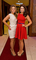 Aine Casserly Claregalway, and Laurna Byrne, Salthill, at the Take Me Out for Cancer Care West in the Sathill Hotel, Galway . Photo:Andrew Downes.