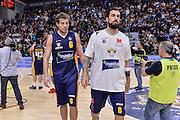 DESCRIZIONE : Beko Legabasket Serie A 2015- 2016 Dinamo Banco di Sardegna Sassari - Manital Auxilium Torino<br /> GIOCATORE : Stefano Mancinelli Tommaso Fantoni<br /> CATEGORIA : Ritratto Delusione Postgame<br /> SQUADRA : Manital Auxilium Torino<br /> EVENTO : Beko Legabasket Serie A 2015-2016<br /> GARA : Dinamo Banco di Sardegna Sassari - Manital Auxilium Torino<br /> DATA : 10/04/2016<br /> SPORT : Pallacanestro <br /> AUTORE : Agenzia Ciamillo-Castoria/L.Canu