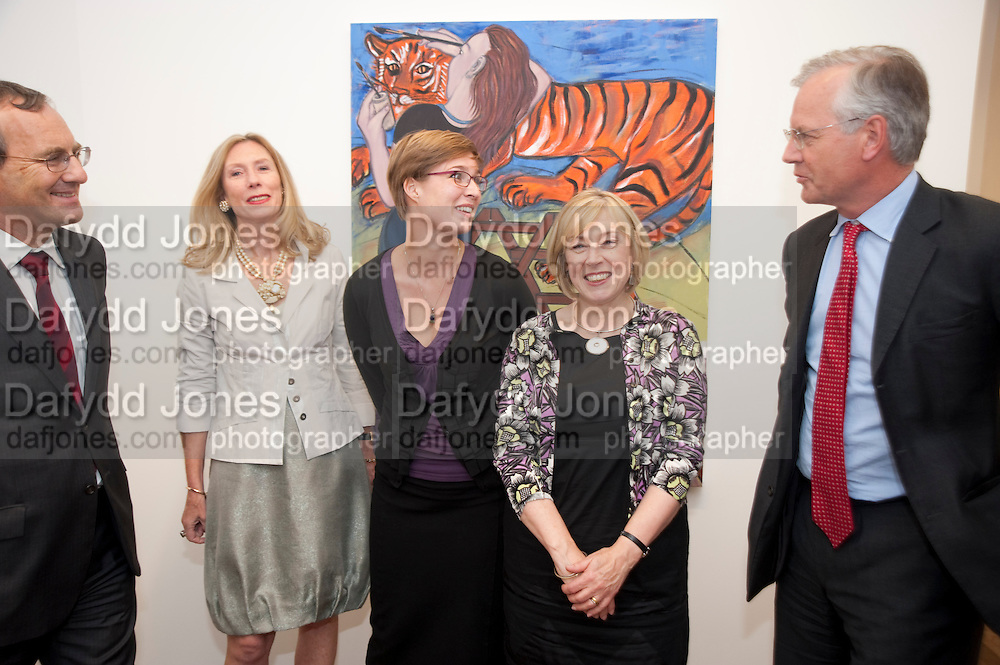 DAVID TYLER; CLARE COOPER,; PHOEBE MILES; EILEEN COOPER; RICHARD CRANFIELD ' Showing Off' Exhibition of work by Eileen Cooper. Art First. 21 Eastcastle St. London. W1W 8DD.<br /> <br />  , -DO NOT ARCHIVE-© Copyright Photograph by Dafydd Jones. 248 Clapham Rd. London SW9 0PZ. Tel 0207 820 0771. www.dafjones.com.
