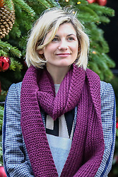 © Licensed to London News Pictures. 10/12/2018. London, UK. Jodie Whittaker, first female incarnation of the Doctor in arrives in Downing Street for a Children Christmas reception in No 11 Downing Street, hosted by Philip Hammond . Photo credit: Dinendra Haria/LNP
