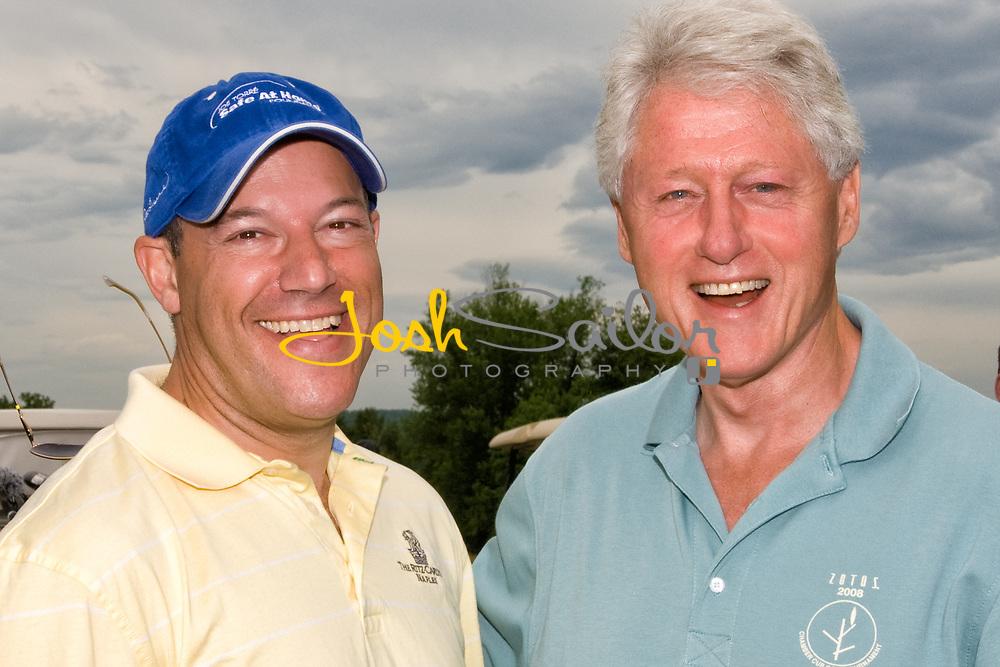 Ari Fleischer & President Clinton laughing