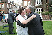Ellen Flyn and Peter Macklin, Charity Garden Party  to raise money for The Passage. A London charity which provides care for homeless and vulnerable people. College Garden, Westminster Abbey<br />
