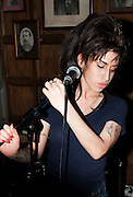 ***FILE PICTURE***.Amy Winehouse plays secret charity gig called Apocalypstick at The Hawley in October 2010 Arms in Camden town London. The gig was in aid of Nordoff Robbins Music therapy Charity.Ki Price +44 7940447610......