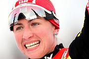 GEPA-02011034013 - OBERHOF,DEUTSCHLAND,02.JAN.10 - SKI NORDISCH, LANGLAUF - FIS Weltcup, Tour de Ski, 10km klassisch, Damen, Siegerehrung. Bild zeigt den Jubel von Justyna Kowalczyk (POL). Foto: GEPA pictures/ Markus Oberlaender.FOT. GEPA / WROFOTO.*** POLAND ONLY !!! ***