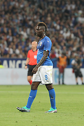 June 1, 2018 - Paris, Ile-de-France, France - Mario Balotelli (Italy) during the friendly football match between France and Italy at Allianz Riviera stadium on June 01, 2018 in Nice, France..France won 3-1 over Italy. (Credit Image: © Massimiliano Ferraro/NurPhoto via ZUMA Press)