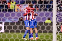 Atletico de Madrid's player Fernando Torres and Antoine Griezmann celebrating a goal during a match of UEFA Champions League at Vicente Calderon Stadium in Madrid. November 01, Spain. 2016. (ALTERPHOTOS/BorjaB.Hojas)