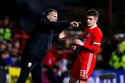 Wales head coach Ryan Giggs talks to Declan John of Wales- Mandatory by-line: Robbie Stephenson/JMP - 20/03/2019 - FOOTBALL - The Racecourse Ground - Wrexham, United Kingdom - Wales v Trinidad and Tobago - International Challenge Match