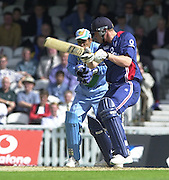 09/07/2002 - Tue.Sport - Cricket-  NatWest Series - Eng vs India Oval.England batting  - Andrew Flintoff..