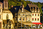 Evening light in Honfleur, Normandy, France