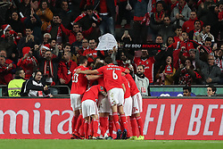December 23, 2018 - Lisbon, Portugal - Benfica's Portuguese midfielder Pizzi celebrates with teammates after scoring during the Portuguese League football match SL Benfica vs SC Braga at the Luz stadium in Lisbon on December 23, 2018. (Credit Image: © Pedro Fiuza/ZUMA Wire)