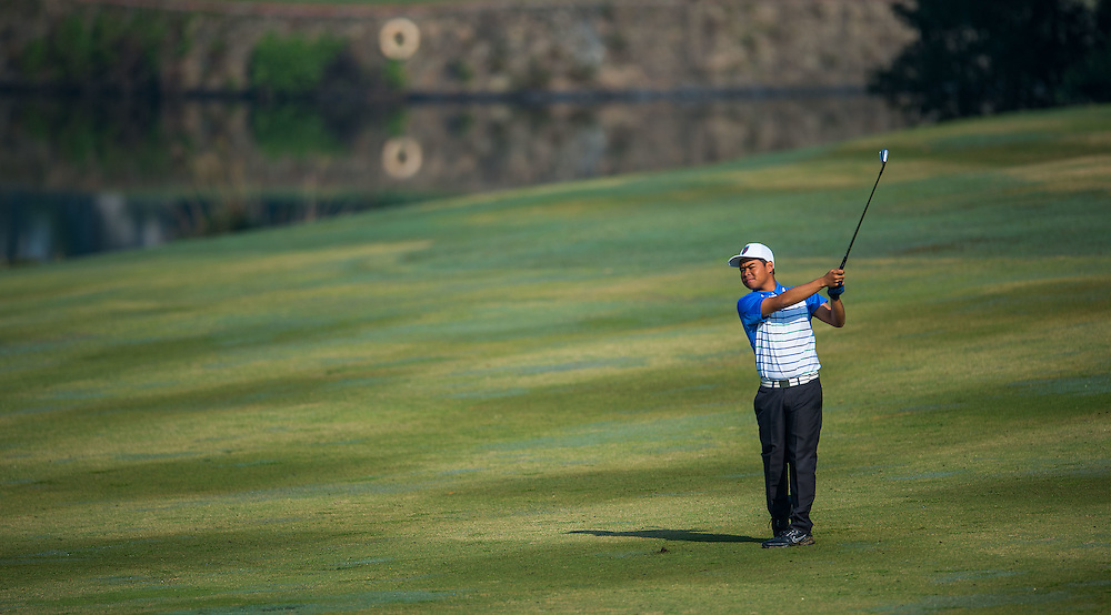 Christer Rem Sibug of Philippines in action during day two of the 10th Faldo Series Asia Grand Final at Faldo course on 03 March of 2016 in Shenzhen, China. Photo by Xaume Olleros.