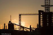 Conoco Oil Refinery at Sunrise in Billings Montana