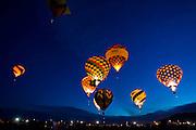 The Dawn Patrol lifts off at the Albuquerque International Balloon Fiesta