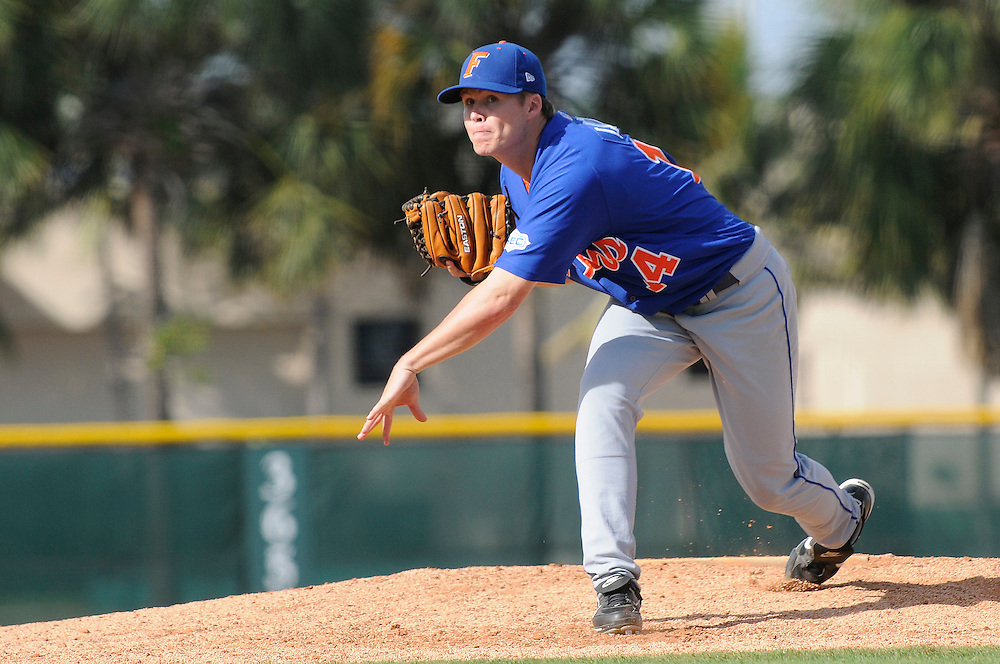 March 2, 2008 - Coral Gables, FL<br /> <br /> Stephen Locke #14 of the Florida Gators in action during their 6-2 victory over the Miami Hurricanes at Alex Rodriguez Park in Coral Gables, Florida.<br /> <br /> JC Ridley/CSM