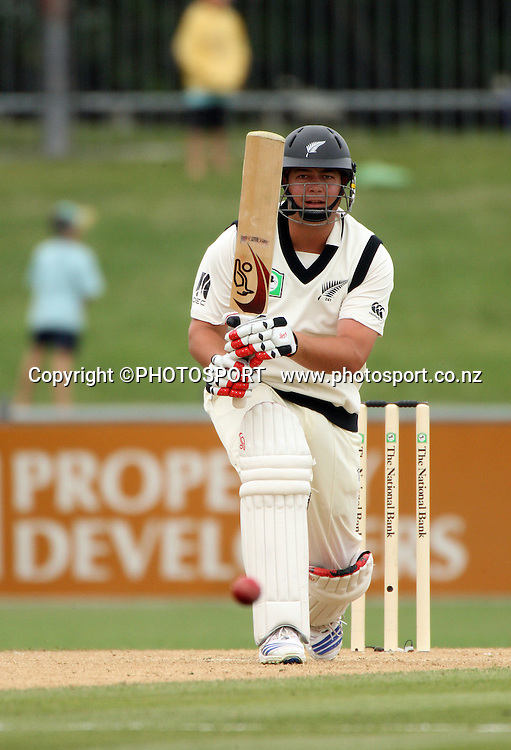 Jesse Ryder drives during play on day 3 of the second cricket test at McLean Park in Napier. National Bank Test Series, New Zealand v West Indies, Sunday 21 December 2008. Photo: Andrew Cornaga/PHOTOSPORT