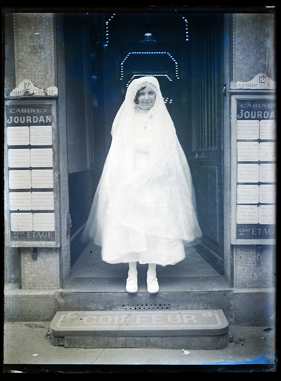 first communion portrait France circa 1920s