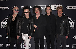March 30, 2019 - Brooklyn, New York, USA - NEW YORK, NEW YORK - MARCH 29: Reeves Gabrels, Simon Gallup, Robert Smith, Roger O'Donnell and Jason Cooper of The Cure attends the 2019 Rock & Roll Hall Of Fame Induction Ceremony at Barclays Center on March 29, 2019 in New York City. Photo: imageSPACE (Credit Image: © Imagespace via ZUMA Wire)