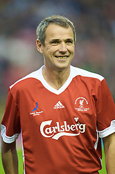LIVERPOOL, ENGLAND - Thursday, May 14, 2009: Liverpool Legends' Alan Hansen before the Hillsborough Memorial Charity Game at Anfield. (Photo by David Rawcliffe/Propaganda)