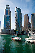 A boat pulls in to the jetty at the Dubai Marina on Friday, December 12, 2010 Archive of images of Dubai by Dubai photographer Siddharth Siva