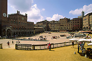 The Palazzo Pubblico and the Torre del Mangia in the Piazza del Campo, Siena....travel, lifestyle