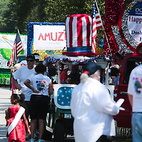 Parade participants line up on Rhett Street before the North Carolina 4th of July Festival Parade Friday July 4, 2014 in Southport, N.C.
