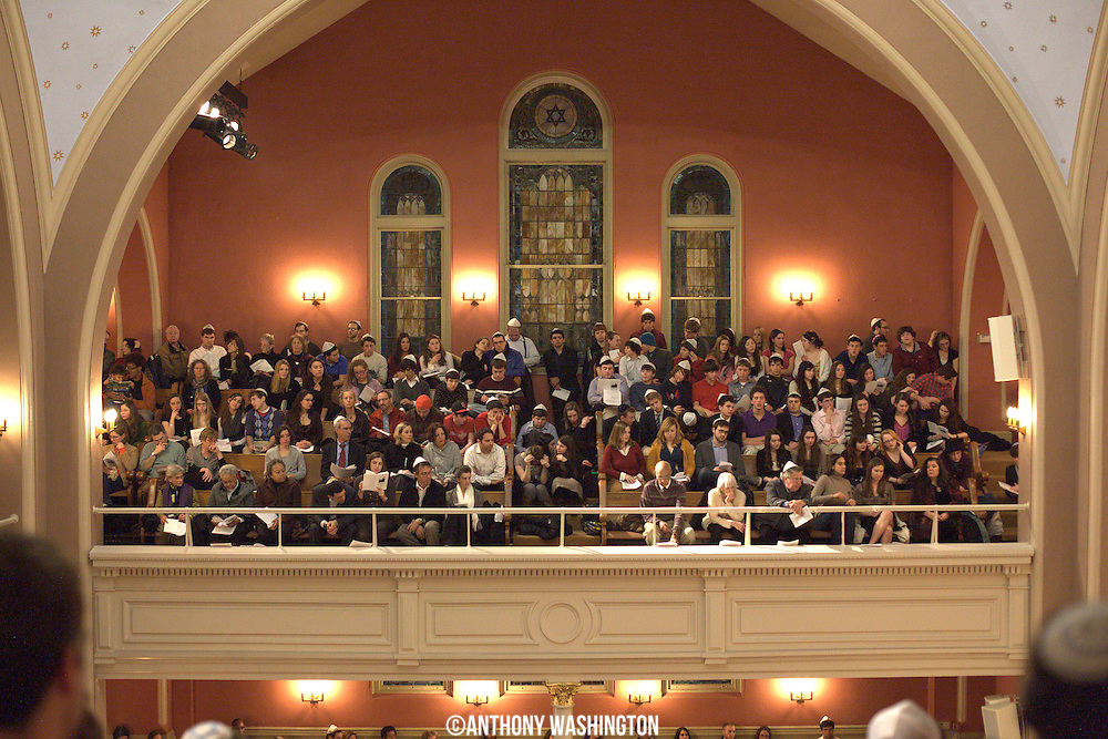Part of the capacity crowd at the 7th Annual Dr. Martin Luther King, Jr. Shabbat at the Sixth & I Synagogue in Washington, DC on Friday, January 14, 2011.