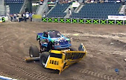 'I like doing donuts, driving over cars and wheelies': Meet the world's youngest monster truck driver at just EIGHT years old<br /> <br /> He may be too young to have a driver's license but eight-year-old Kaid Jaret Olson-Weston has been entertaining Americans as the world's youngest monster truck driver for years.<br /> The third-grader, who got his first monster truck when he was just six years old, has become an internet sensation thanks to the videos he and his school-age fans have uploaded on YouTube.<br /> 'I like doing donuts. I like going over the cars. My favorite is doing the wheelies. My truck has so much power,'<br /> The Fort Lauderdale youngster's love of the niche sport began at the tender age of three, when he attended his first monster truck show at Sun Life Stadium with his dad, Tod Weston, an avid fan.<br /> 'When he came back, he said, 'I want to be a monster truck driver,' Weston said. 'He was pretty much set on what he wanted to do.'<br /> Weston and wife Nancy, who also has her own monster truck, the Fancy Nancy, started Kaid off on a go-cart that looked like a monster truck at age four but pretty soon he was driving the real thing - almost.<br /> <br /> At 11 feet long, 7 feet high and weighing just under 3,000 pounds, Kaid's truck, called Monster Bear, is half the size of a full-size monster truck, which is about 20 feet long, 13 feet high and 10,000 pounds.<br /> The bright-blue-and-green beast has as a harness, neck restraints and a roll cage that keep Kid KJ, as his followers affectionately call him, tightly strapped in and he also wears a fire suit.<br /> His parents have a remote ignition-interrupt system that can stop the truck during shows if something goes wrong.<br /> <br /> 'It's an extreme sport, but it's extremely safe. We made it safe,' Weston said. 'I see the passion in him. I see him doing what he loves, and I see him doing it well. It's a gleam from ear to ear.'<br /> During the week, Kaid is an ordinary third-grader at Westminster Academy but he spends his weekends touring the country, performing for fans a