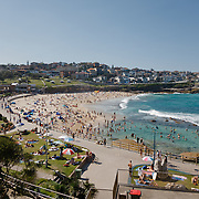The beach of Bondi on saturday.