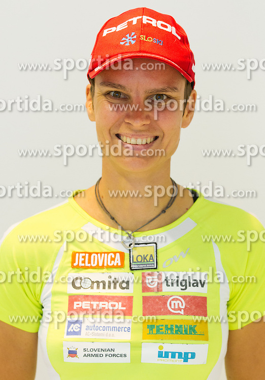 Teja Gregorin during press conference of Slovenia Biathlon team for season 2013/14 on October 1, 2013 in BTC, Ljubljana, Slovenia. (Photo by Vid Ponikvar / Sportida.com)