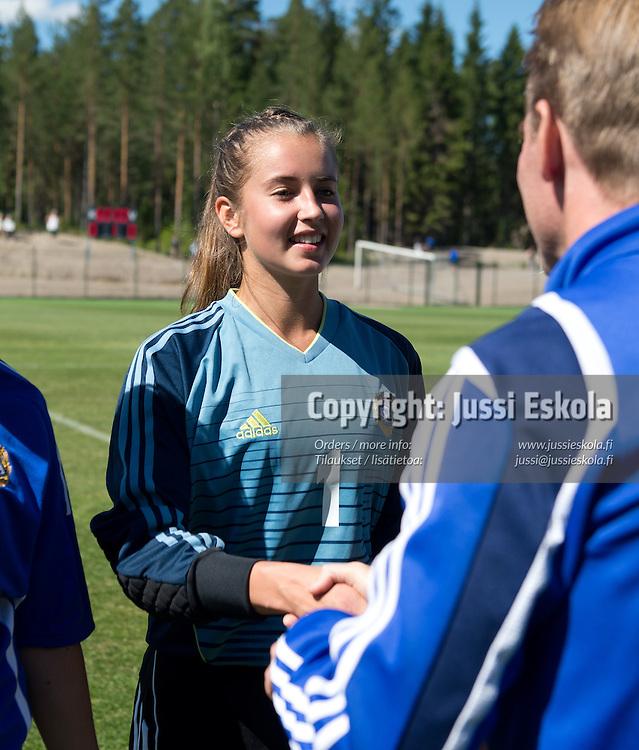 Sonja Rajatalo. Piirijoukkue-cup. Tytöt. Eerikkilä. 19.6.2013. Photo: Jussi Eskola