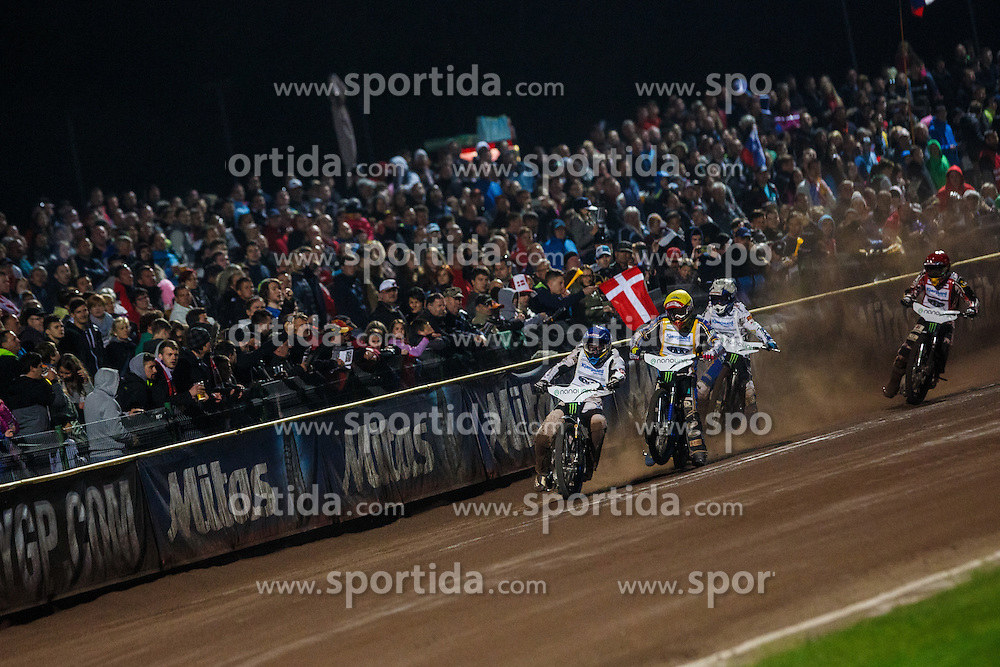 PETER KILDEMAND of Denmark, JASON DOYLE of Australia, NICKI PEDERSEN of Denmark and MACIEJ JANOWSKI of Poland during FIM Speedway Grand Prix World Cup, Krsko, on 30. April, 2016, in Sports park Krsko, Slovenia. Photo by Grega Valancic / Sportida