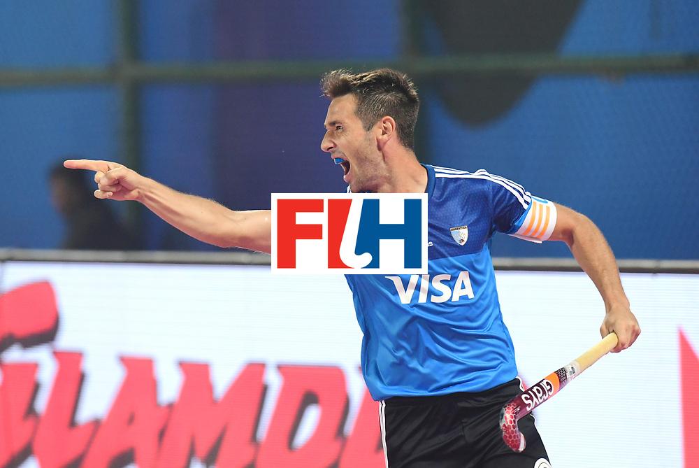 Odisha Men's Hockey World League Final Bhubaneswar 2017<br /> Match id:11<br /> Argentina v Spain<br /> Foto: Matias Paredes (Arg) scored a goal<br /> COPYRIGHT WORLDSPORTPICS FRANK UIJLENBROEK
