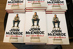 © Licensed to London News Pictures. 30/06/2017. London, UK. John McEnroe 'But Seriously' autobiography books at Waterstone's book store Photo credit: Ray Tang/LNP