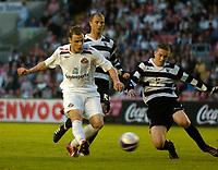 Photo: Jed Wee/Sportsbeat Images.<br /> Darlington v Sunderland. Pre Season Friendly. 18/07/2007.<br /> <br /> Sunderland's Anthony Stokes (L) scores.