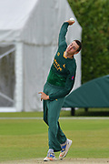 Matt Carter during the friendly match between Nottinghamshire County Cricket Club and Northamptonshire County Cricket Club at Grantham CC, Grantham, United Kingdom on 5 July 2017. Photo by Simon Trafford.