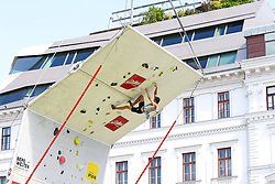 31.07.2015, Mariahilfer Straße, Wien, AUT, ISFC, Free Solo Masters MAHÜ, Vorqualifikation, im Bild // during the prequalification of the ISFC Free Solo Masters MAHÜ at the Mariahilfer Straße in Vienna, Austria on 2015/07/31. EXPA Pictures © 2015, PhotoCredit: EXPA/ Sebastian Pucher