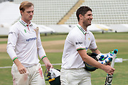 Colin Ackemann all smiles at the win in the Bob Willis Trophy match between Lancashire County Cricket Club and Leicestershire County Cricket Club at Blackfinch New Road, Worcester, United Kingdom on 4 August 2020.