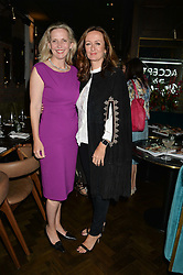 Left to right, AMANDA FOREMAN and LUCY YEOMANS at a dinner hosted by Lucy Yeomans and Amanada Foreman to celebrate the launch of the film Georgiana, Duchess of Devonshire held at sackville's, Sackville Street, London on 7th September 2015.